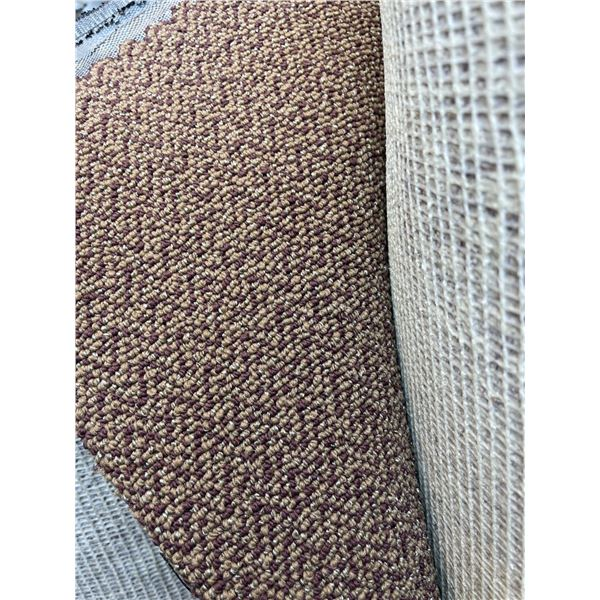 APPROXIMATELY 1,200 SQ FT LARGE ROLL OF 12 FT WIDE MULTI-TONE BROWN COMMERCIAL GRADE CARPET