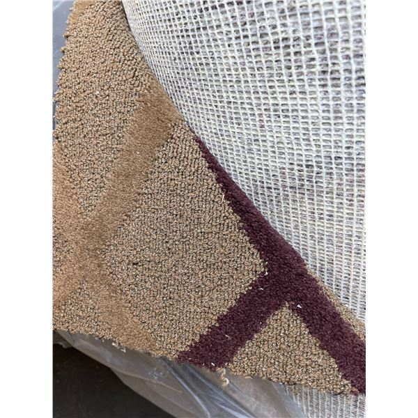 APPROXIMATELY 1,200 SQ FT LARGE ROLL OF 12 FT WIDE BEIGE X-PATTERN COMMERCIAL GRADE CARPET