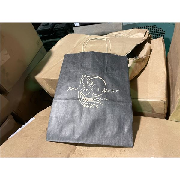 PALLET OF PAPER WINERY SUPPLY BAGS