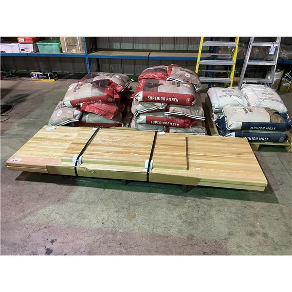 """3 PCS OF 2"""" THICK SOLID WOOD COUNTERTOP SECTIONS"""