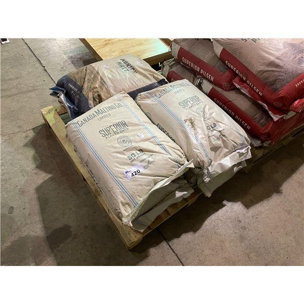 PALLET OF 55LBS BAGS OF SUPERIOR BEER MALTING GRAINS