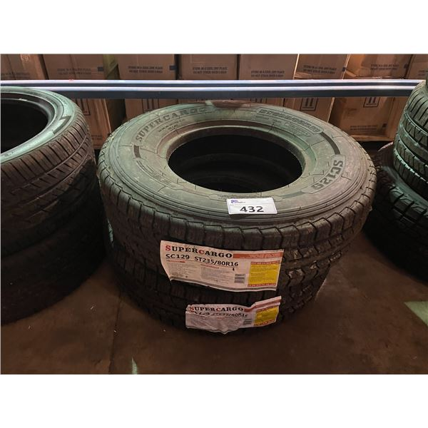 SET OF 2 SUPERCARGO SC129 ST235/80 R16 PERFORMANCE VEHICLE TIRES