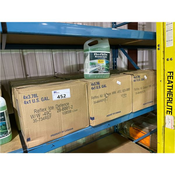 9 BOXES OF REFLEX ALL SEASON WINDSHIELD WASHER FLUID PROTECTS UP TO -45C WITH BUG