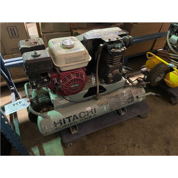 HITACHI EC25E MOBILE 5.5HP 8GAL CAPACITY 125PSI GAS POWERED AIR COMPRESSOR