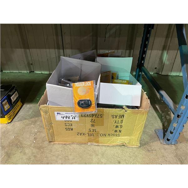 BOX OF NEW GUN TRIGGER SAFETY LOCKS