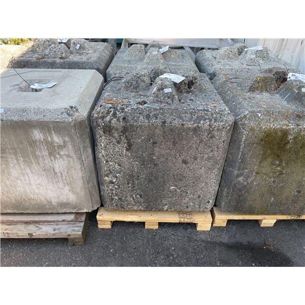 850KG CONCRETE ANCHOR BLOCK 2.5' X 2.5'