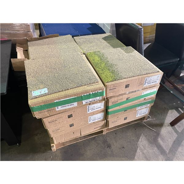 PALLET OF 860.8 SQ. FT TOTAL INTERFACE 2 TONE FLAX GREY COMMERCIAL CARPET FLOOR TILES