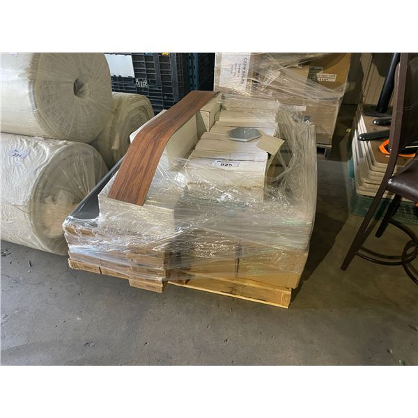 PALLET OF WOOD PLANK COMMERCIAL VINYL FLOORING & ASSORTED WALL TILES