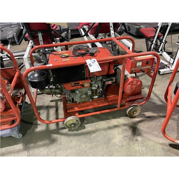 KUBOTA ASK-R150 MOBILE 220V DIESEL GENERATOR