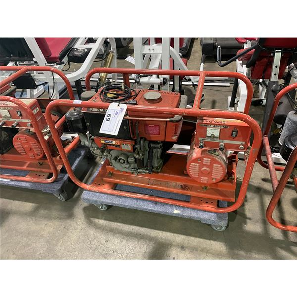 KUBOTA ASK-R130 PORTABLE 220V DIESEL GENERATOR
