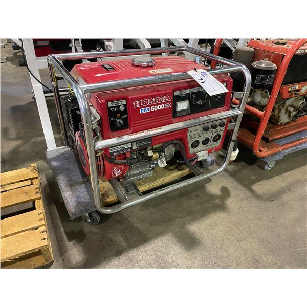 HONDA EM5000SX 120/240V PORTABLE GAS GENERATOR