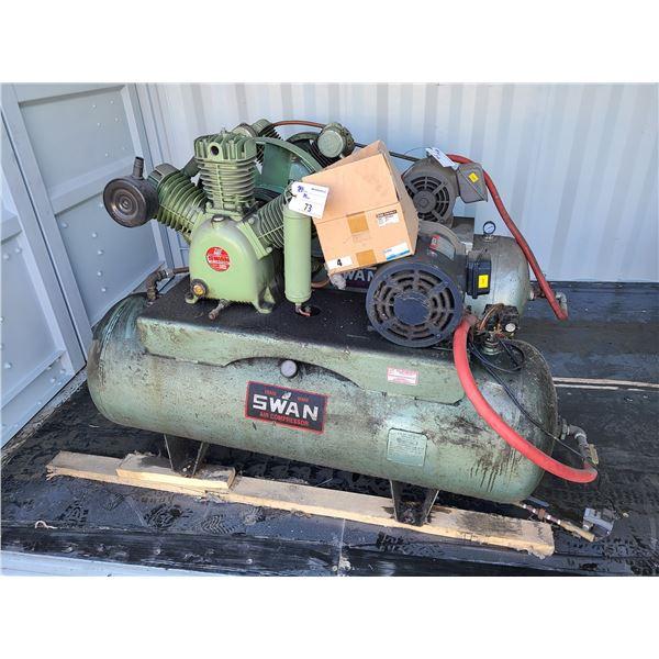 SWAN HWU-310 80GAL 200PSI HORIZONTAL INDUSTRIAL AIR COMPRESSOR