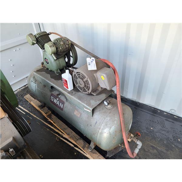 SWAN HVU-205 80GAL 200PSI HORIZONTAL INDUSTRIAL AIR COMPRESSOR