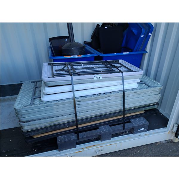 PALLET OF ASSORTED FOLDING TABLES
