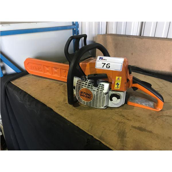 STIHL MS230 GAS POWERED CHAIN SAW