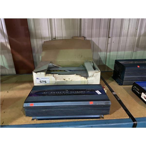 SAMLEX 1750 WATT AC POWER SOURCE & 1500 WATT DC TO AC POWER INVERTER
