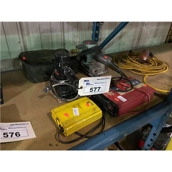 BLACK & DECKER ELECTRIC SHEET SANDER, CRAFTSMAN ELECTRIC SHEET SANDER, SOFT CASE, MAXX 750 WATT