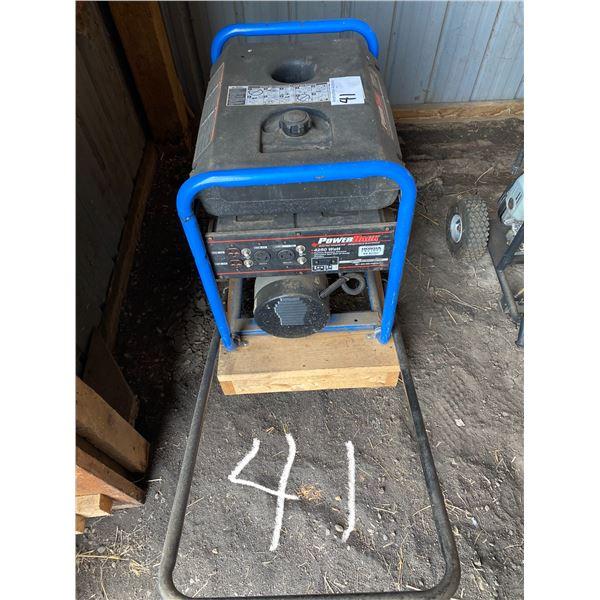 Power Rack 4250 Watt Gen Set w/ 9 H.P. on Rubber