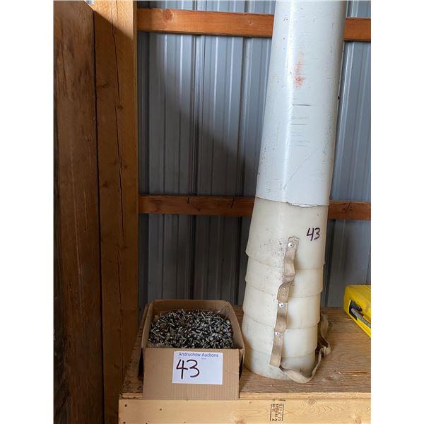 White Grain Spout, 2/3 Box Brand New Roofing Screws