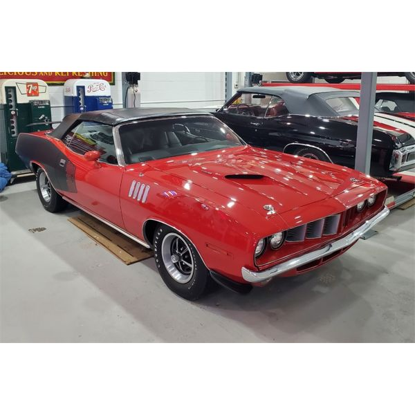 4:30PM SPECIAL FEATURE SATURDAY MAIN EVENT! 1971 PLYMOUTH CUDA CONVERTIBLE NUMBERS MATCHING