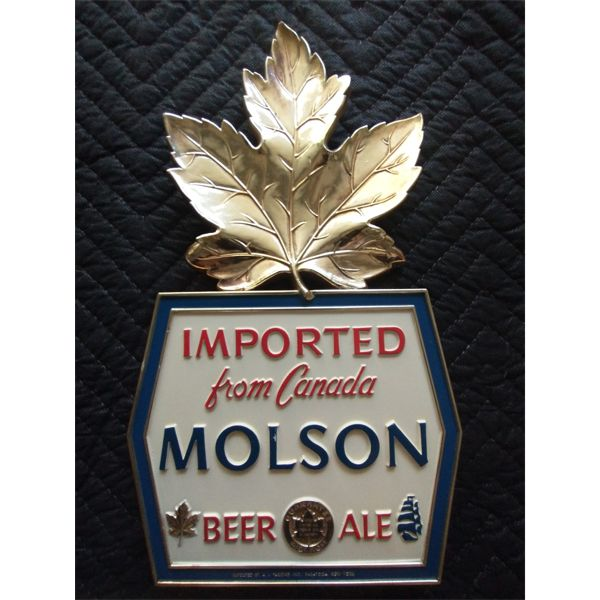 NO RESERVE! Rare U.S A. Issued for Molson Canadian beer advertising wall sign