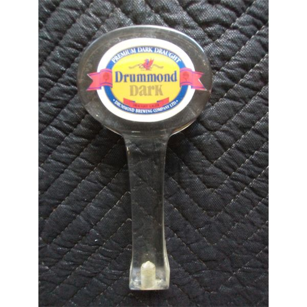 NO RESERVE! Vintage Drummond brewing company draught beer handle.