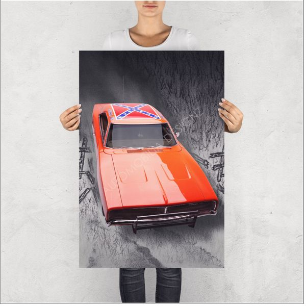 """NO RESERVE LIMITED EDITION PRINT """"ICONIC GENERAL LEE"""""""