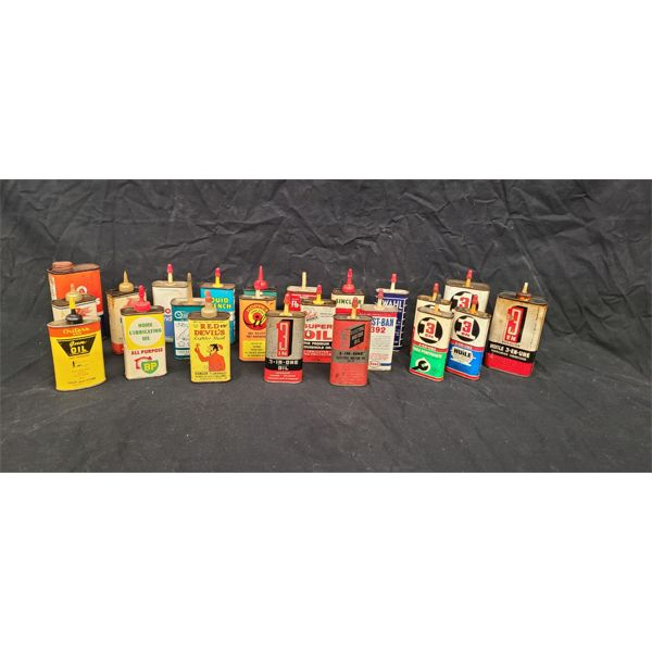 NO RESERVE! COLLECTION OF RARE VINTAGE HOUSE HOLD OILS INCLUDING RED DEVILS