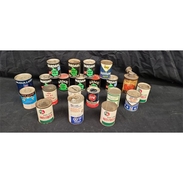NO RESERVE! Collection of vintage misc 4oz oil cans