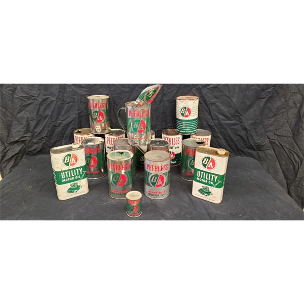 NO RESERVE! Collection of vintage B-A oil cans