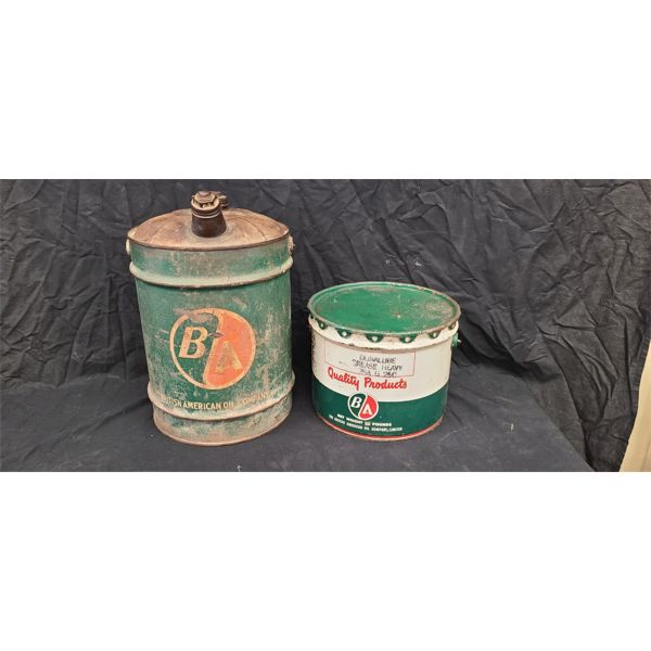 NO RESERVE! BA gas can and grease can