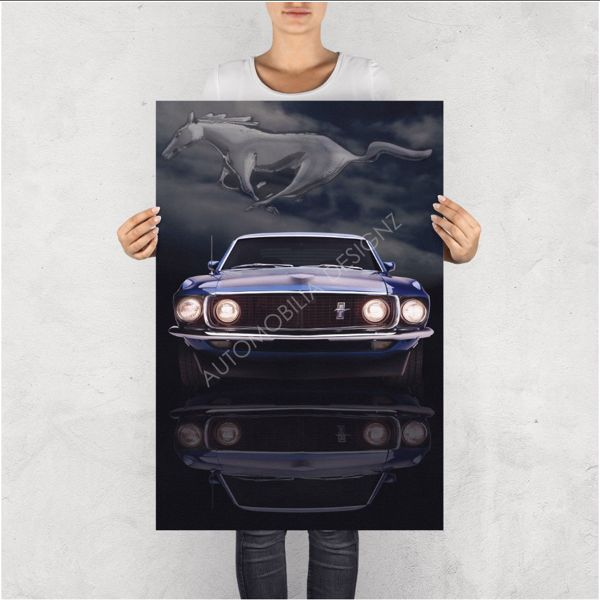 """NO RESERVE LIMITED EDITION PRINT """"THE MUSTANG"""""""