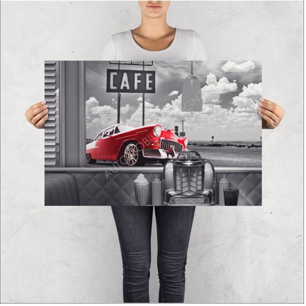 """NO RESERVE LIMITED EDITION PRINT """"CHEVROLET BEL AIR"""""""