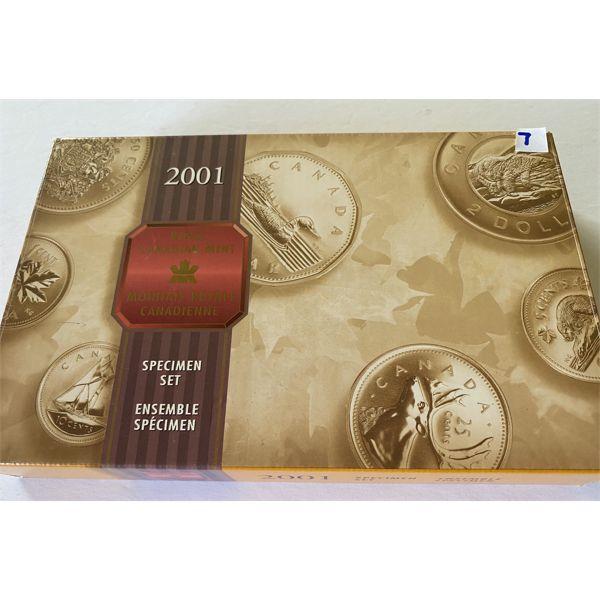 2001 ROYAL CANADIAN MINT SPECIMEN SET
