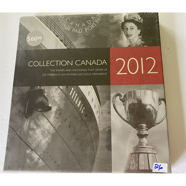 THE 2012 COLLECTION CANADA BOOK OF STAMPS & STORIES - NEW