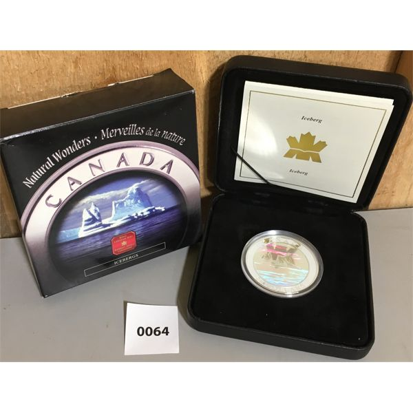 RCM NATURAL WONDERS $20 FINE SILVER COIN - ICEBERGS