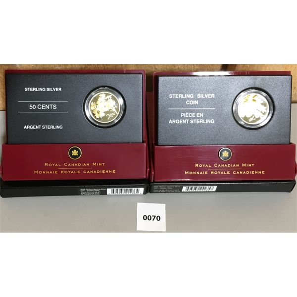 LOT OF 2 - 2005 & 2006 STERLING SILVER COINS