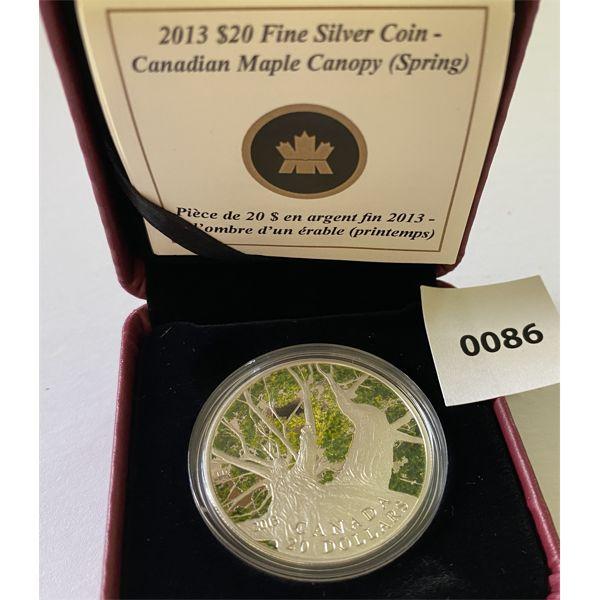 2013 $20 FINE SILVER COIN