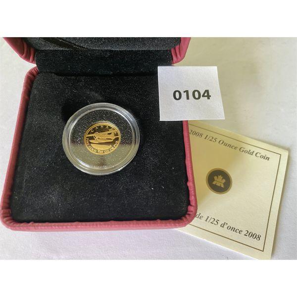 2008 1/25 OZ CND GOLD 50 CENT COIN - 1.270 GR