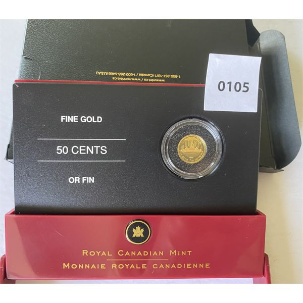 CANADIAN 1/25 OZ GOLD 50 CENT COIN