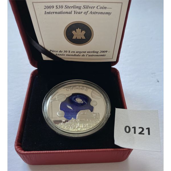 2009 $30 SILVER COIN - YEAR OF ASTRONOMY