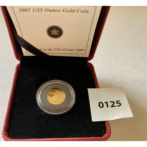 2007 1/25 OZ GOLD COIN - 1.270 GR