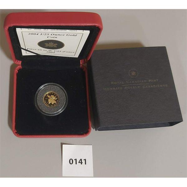 2004 MOOSE, 1/25 OUNCE GOLD COIN