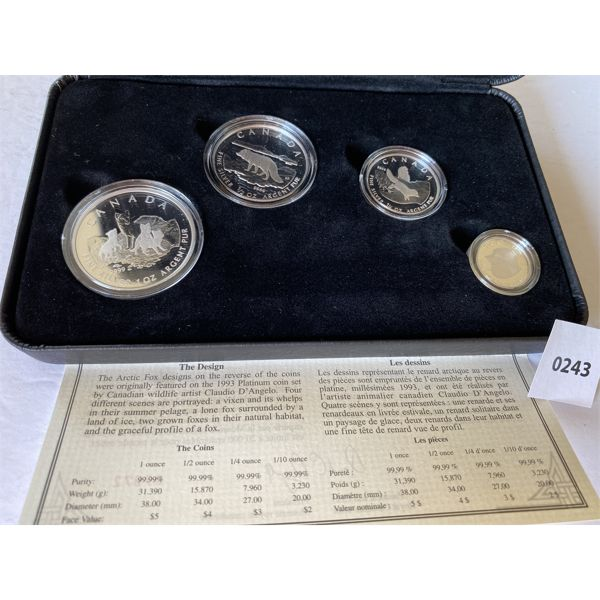 2004 'THE ARTIC FOX' SILVER COIN SET - $5,4,3,2