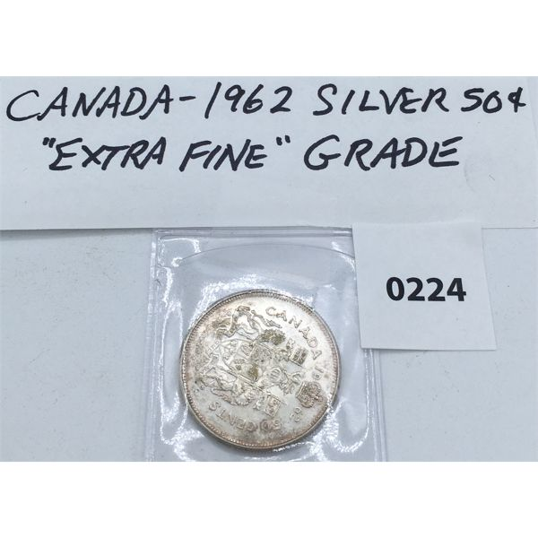 CANADIAN 1962 SILVER 50 CENT PIECE