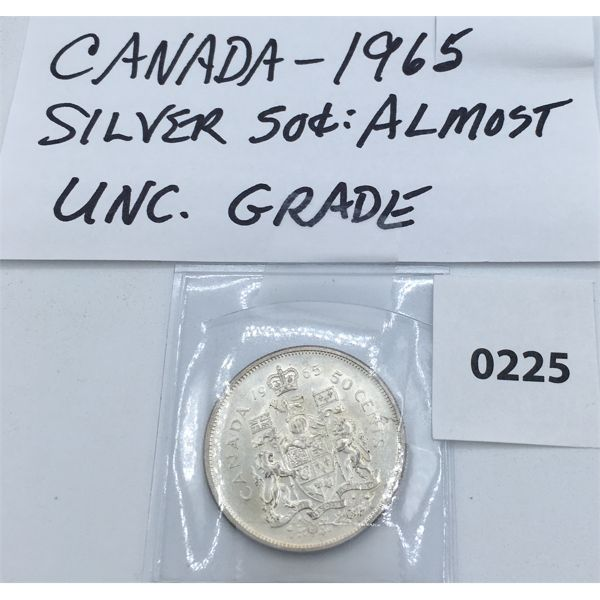 CANADIAN 1965 SILVER 50 CENT PIECE