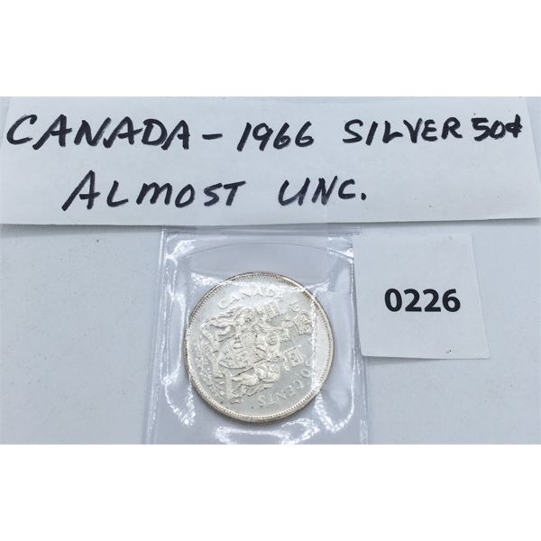 CANADIAN 1966 SILVER 50 CENT PIECE