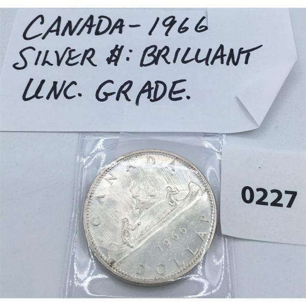 CANADIAN 1966 SILVER DOLLAR