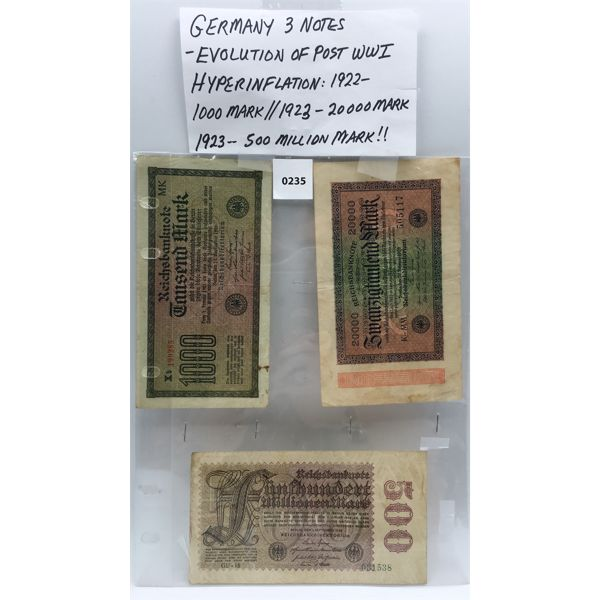 LOT OF 3 - GERMAN MARKS