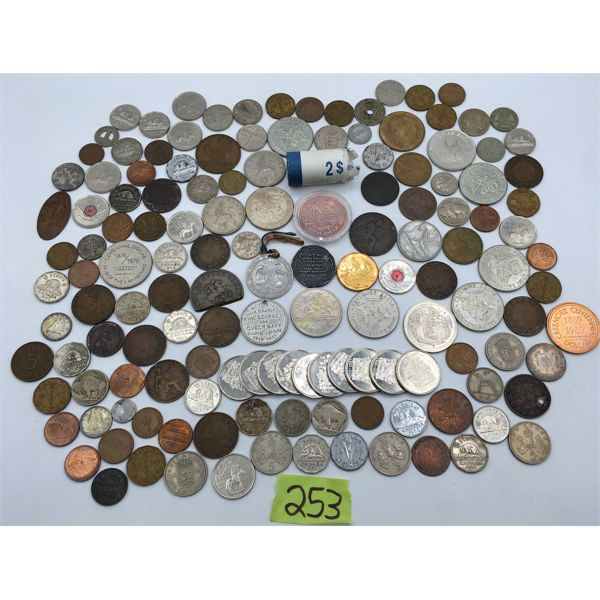 JOB LOT OF COLLECTIBLE TOKENS AND CURRENCY
